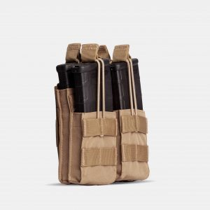 Rifle Double Stack Magazine Pouch In FDE Tan – R2S