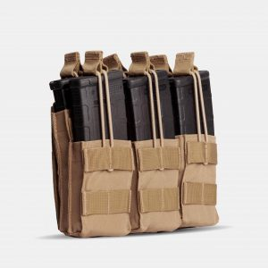 Rifle Triple Stack Magazine Pouch In FDE Tan – R3S