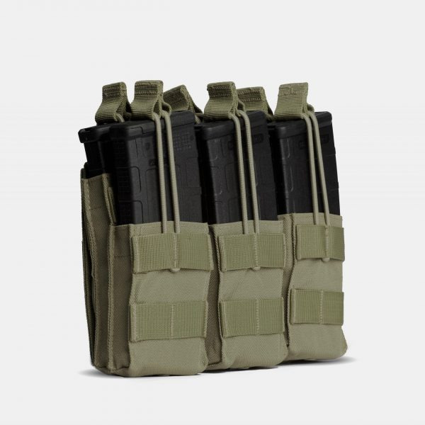 Rifle Triple Stack Magazine Pouch In OD Green – R3S