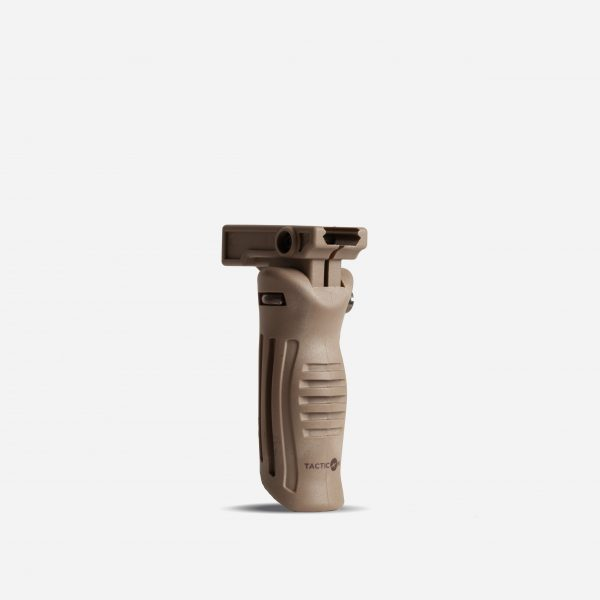 Tactical Vertical Foldable Rifle Foregrips for AR15 Picatinny Rail In FDE Tan